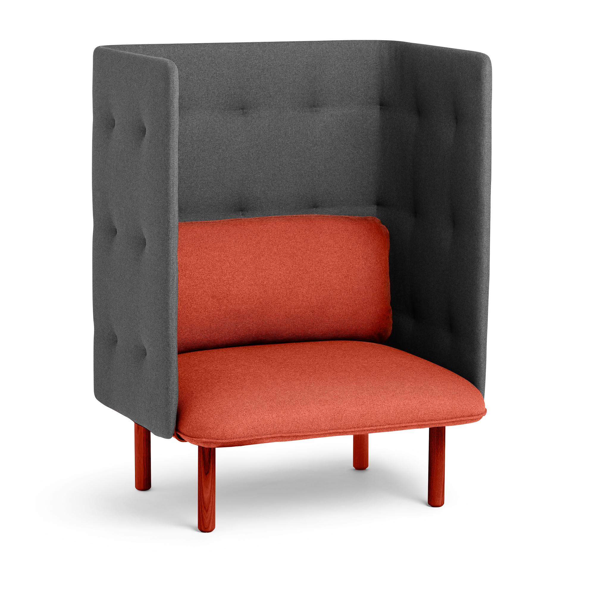 Brick Dark Gray Qt Privacy Lounge Chair Hi Res