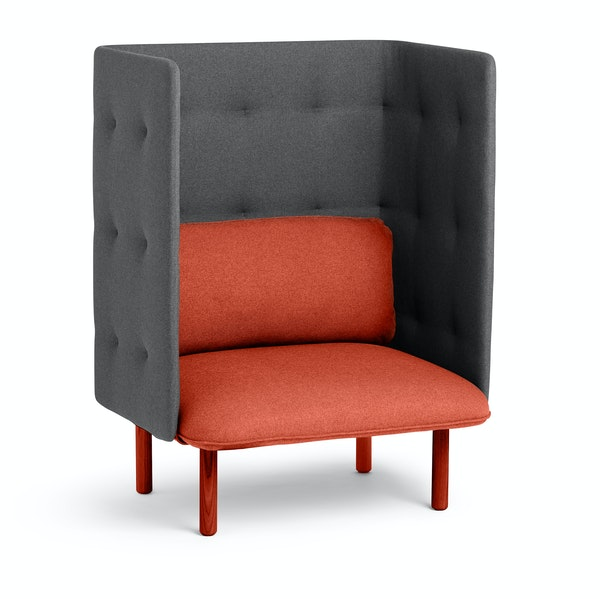 Brick + Dark Gray QT Privacy Lounge Chair,Brick,hi-res