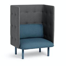 Dark Blue + Dark Gray QT Privacy Lounge Chair,Dark Blue,hi-res