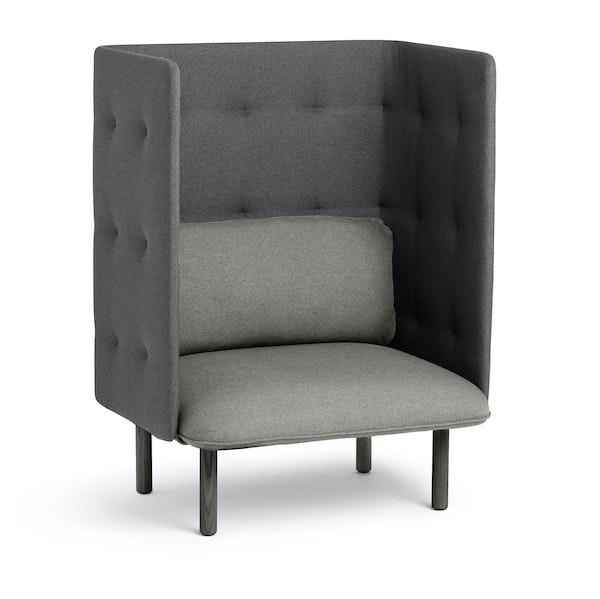 Gray + Dark Gray QT Privacy Lounge Chair,Gray,hi-res