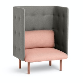 Blush + Gray QT Lounge Chair