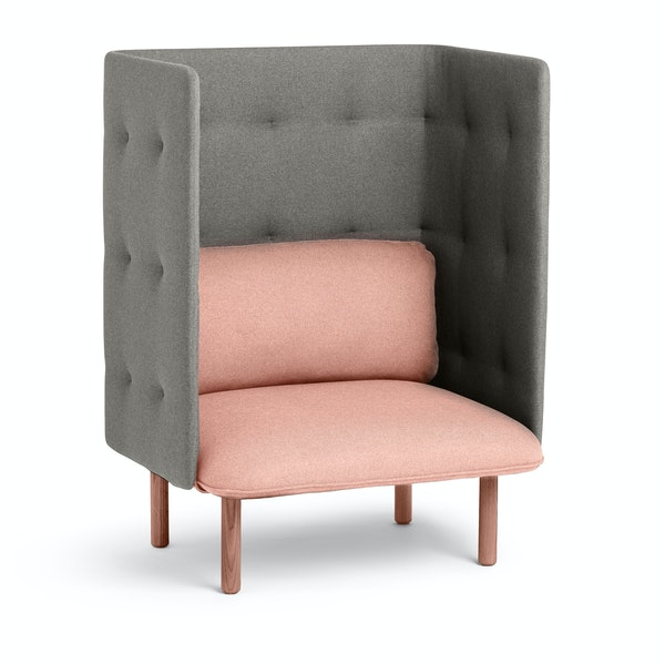 Blush + Gray QT Lounge Chair,Blush,hi-res