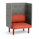 Brick + Gray QT Privacy Lounge Chair,Brick,hi-res