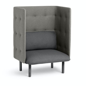 Dark Gray + Gray QT Privacy Lounge Chair,Dark Gray,hi-res
