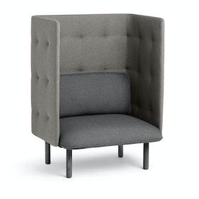 Dark Gray + Gray QT Privacy Lounge Chair,Dark Gray,hi-res