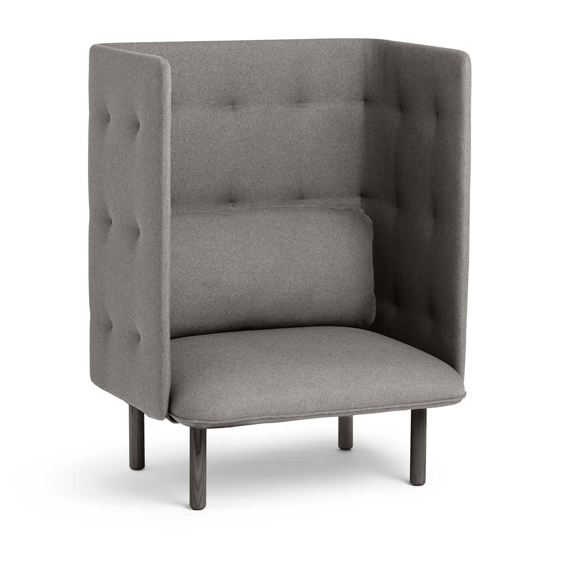 Attirant Gray QT Privacy Lounge Chair,Gray,hi Res. Loading Zoom