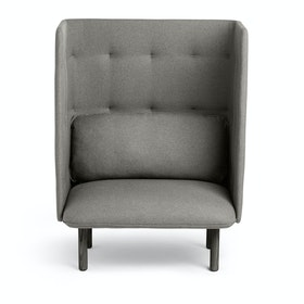 Brick + Gray QT Privacy Lounge Chair