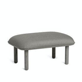 Gray QT Privacy Lounge Ottoman