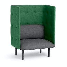 Dark Gray + Leaf Green QT Privacy Lounge Chair,Dark Gray,hi-res