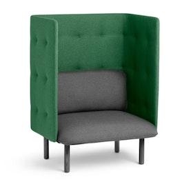 Dark Gray + Leaf Green QT Privacy Lounge Chair,Dark Gray,hi-res