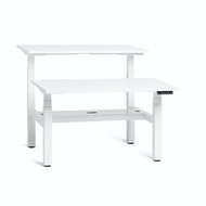 Series L Adjustable Height Double Desk for 2, White Legs,,hi-res
