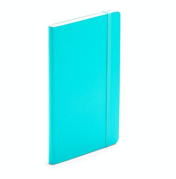 Aqua Medium Soft Cover Notebook,Aqua,hi-res