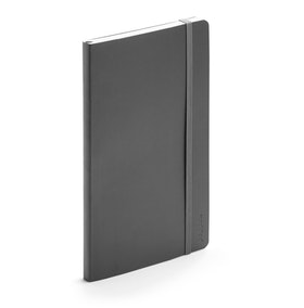 Dark Gray Medium Soft Cover Notebook,Dark Gray,hi-res
