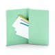 Mint Medium Softcover Notebook,Mint,hi-res