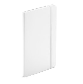 White Medium Soft Cover Notebook