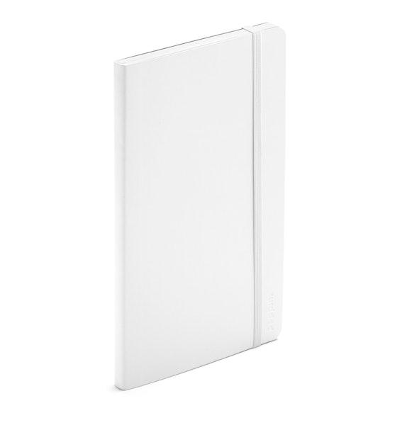 White Medium Soft Cover Notebook,White,hi-res