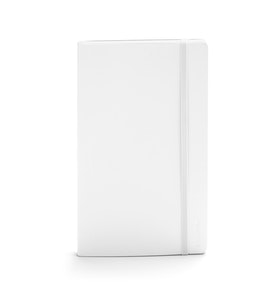 White Medium Soft Cover Notebook,White,hi-res