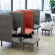 Gray + Blush QT Privacy Lounge Chair,Gray,hi-res