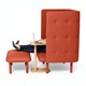 Brick QT Privacy Lounge Chair,Brick,hi-res