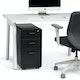 Black Slim Stow 3-Drawer File Cabinet,Black,hi-res