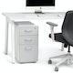 White + Light Gray Slim Stow 3-Drawer File Cabinet,Light Gray,hi-res