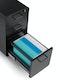 Black Slim Stow 3-Drawer File Cabinet, Rolling,Black,hi-res