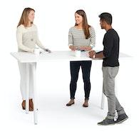 "Series A Standing Table, White, 72x36"", White Legs,White,hi-res"