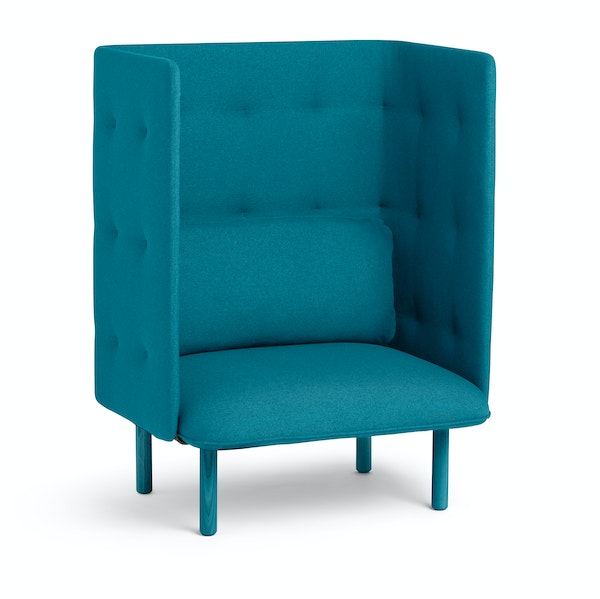 Teal QT Privacy Lounge Chair,Teal,hi-res