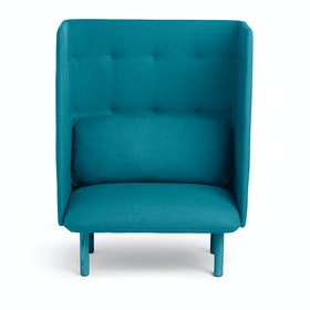 Dark Gray + Teal QT Privacy Lounge Chair,Dark Gray,hi-res