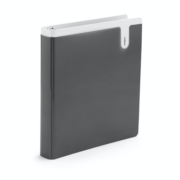"Dark Gray 1"" Pocket Binder,Dark Gray,hi-res"