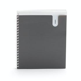 Dark Gray 1-Subject Pocket Spiral Notebook,Dark Gray,hi-res