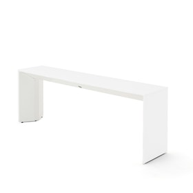 Slim Table, White, White Frame