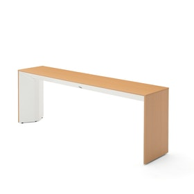 Slim Table,Warm Oak, White Frame