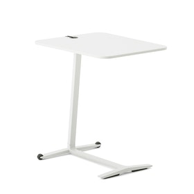 Skate Table, White, White Frame