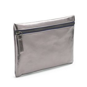 Gunmetal + Navy Slim Accessory Pouch