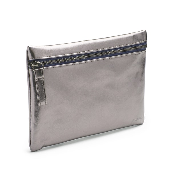 Gunmetal + Navy Slim Accessory Pouch,Gunmetal,hi-res