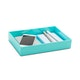 Aqua Medium Accessory Tray,Aqua,hi-res