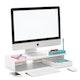 White Monitor Riser,White,hi-res