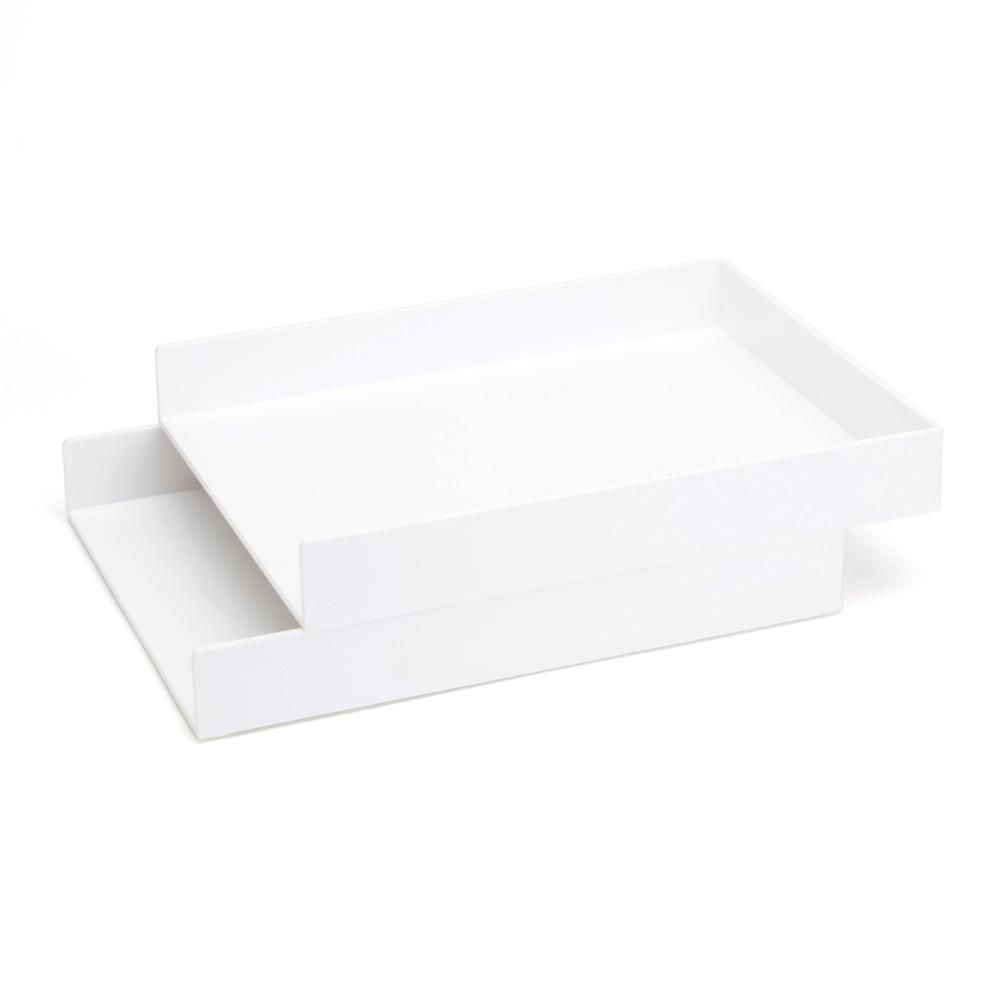 Fabulous White Letter Trays Set Of 2 Desk Organization Trays Poppin Download Free Architecture Designs Oxytwazosbritishbridgeorg