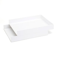 Letter Trays, Set of 2,White,hi-res