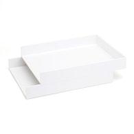 Letter Trays, Set of 2,White,hi-res