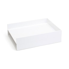 White Letter Trays, Set of 2