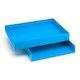 Pool Blue Letter Trays, Set of 2,Pool Blue,hi-res