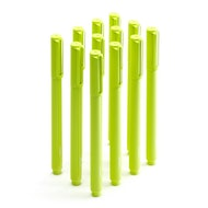 Lime Green Signature Ballpoint Pens w/ Black Ink, Set of 12,Lime Green,hi-res