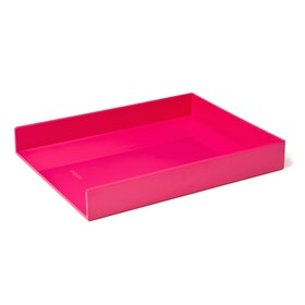 Pink Single Letter Tray,Pink,hi-res