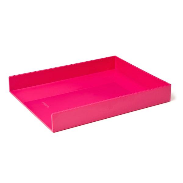Pink Single Letter Tray,Pink,hi-res