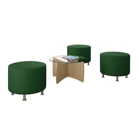 Alight Round Ottoman, Green,Green,hi-res