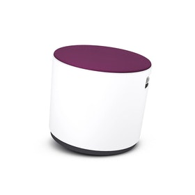 White Buoy Stool, Purple Seat