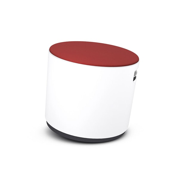 White Buoy Stool, Red Seat,Red,hi-res