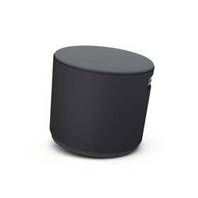 Black Buoy Stool, Gray Seat